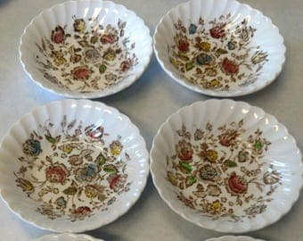 Johnson Brothers Staffordshire Bouquet Four Fruit Bowls