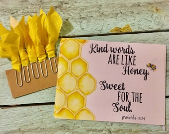 Kind Words Notecards and Bookmarks (set of 5 each)