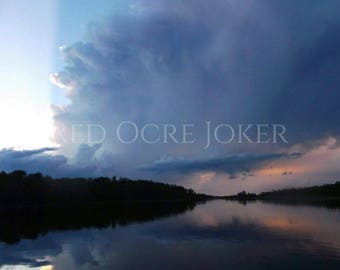 Landscape Photography- Nature Photography- Prints- Woodland- Minnesota- Fine Art- Photography- Landscape Photo- Storm Clouds- Lake Photo