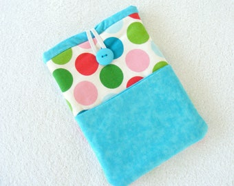 "CLEARANCE - Kindle Cover, Kindle Fire Cover, IPad Mini Cover, Nook Cover, IPad Mini Case, Kindle Fire Case, Polka Dots, 8 3/4"" x 6 1/4"""