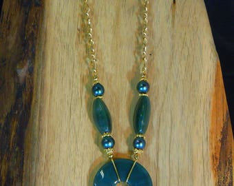 Necklace 101 Green stone necklace