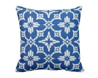 Blue and White Pillow Cover, Blue and White Outdoor Pillows, Decorative Throw Pillow Cover, Couch Pillow, Pillow Sham, Blue Pillow Cover