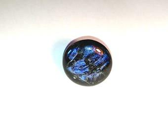 Black dichroic glass fusing glass
