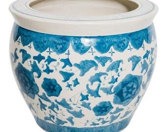 Blue and White Porcelain Planter