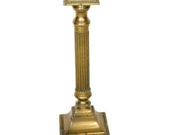 Vintage Brass Column Candle Holder