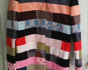 60s vintage colorful quilted jacket