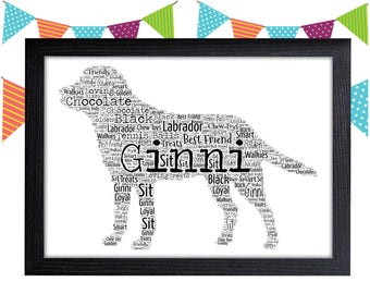 Personalized Gift Labrador Gift Dog Lover Gift Dog Person Gift Wall Art Wall Prints Wall Art Wall Decor Personalised Gift Wall Art Prints