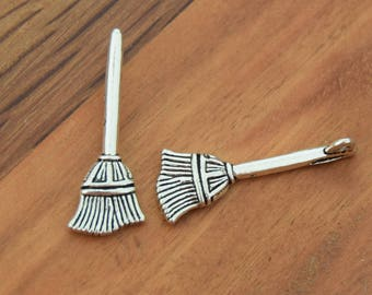 Brushes antique silver witch - Hat Halloween antiqued silver 27mm x 10mm B55 packs of 5/10/20 units