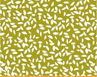 Syksy in Lime Yellow - Lemmikki by Lotta Jansdotter - cotton fabric