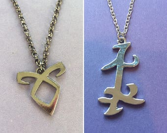 Parabatai Necklace, City of bones necklace, ShadowHunter Parabatai Necklace, Parabatai, Shadowhunter, mortal instruments,