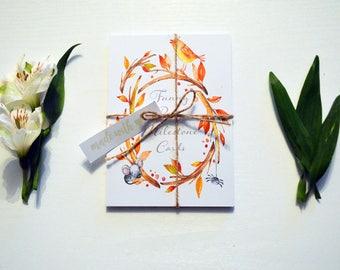 Baby Milestone Cards - Funny Autumnal Woodland Orange Gift Baby Shower Christening Newborn