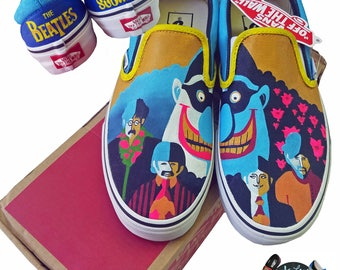The Beatles Yellow Submarine Custom Vans