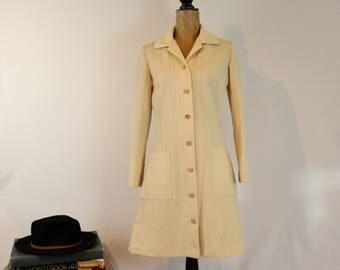 1960s Jacket | Cream 1960s Jacket | Vintage 1960s jacket| 1960s button front jacket