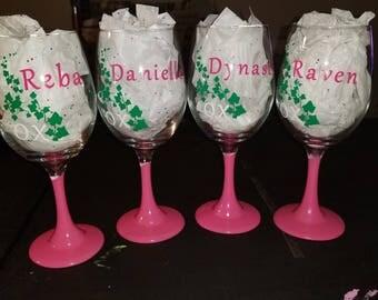 AKA wine glasses (set of 4)