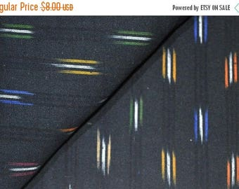 20% Off On Black Ikat Fabric by the Yard with Multicolor Weaving