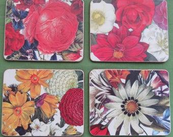 Vintage Gift. Vintage Coasters. 1970 Coasters. Floral Coasters. Flower Coasters. Retro Coasters. Drinks Coasters. 1970 Decor.