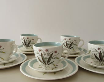 Retro Gift. 1950 Alfred Meakin. Alfred Meakin Hedgerow.  Hedgerow Tea Cups Saucers and Side Plates. Mid Century. Retro Kitchen.