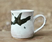 Black And White Splatter Mug - Coffee Mug - Tea Cup - Pottery Mug - Ceramic Mug - Handmade Pottery - Handmade Mug