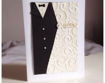 Bride & Groom Wedding Card - Handmade - Bride - Groom - Wedding couple - Husband - Wife - UK Free Postage