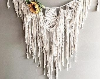Macrame Garland; Macrame Curtain; Gypsy Curtain; Bohemian Curtain; Macrame Wall Hanging; Wall Art