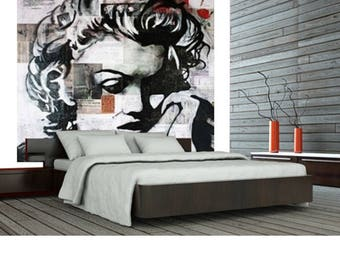 Wall Paper, Wall Covering, Stick Poster, Wallpaper, Marilyn Monroe Wall  Paper,