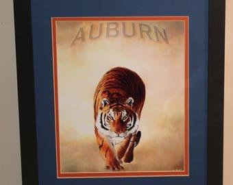 Auburn Tigers, War Eagle, college football  11x14 Framed with Mat's