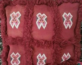 Handmade Moroccan wool cushion