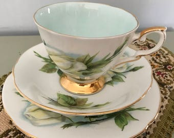 "Vintage Paragon Bone China Tea Cup Trio Six World Famous Roses Harry Wheatcroft ""Virgo"""