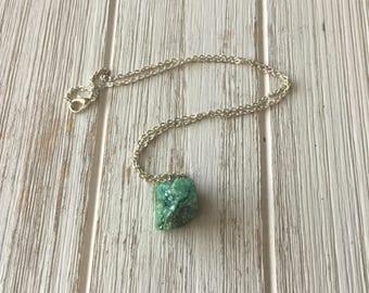 Beautiful short length druzy necklace | gemstone necklace