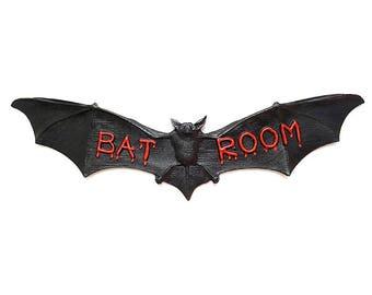 Bathroom Sign Halloween gothic bathroom | etsy