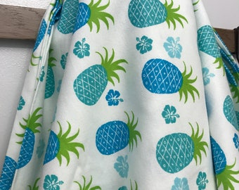 Blue and Teal Pineapple Blanket