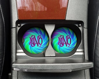 Custom Tie Dye Car Coaster