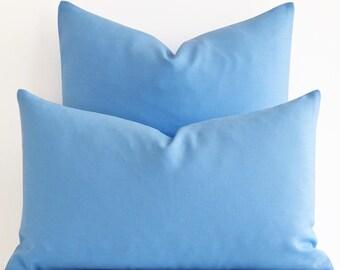 blue linen pillow cover blue pillow cover solid pillow cover modern