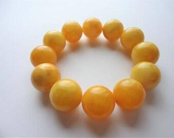 Baltic amber bracelet, 18mm