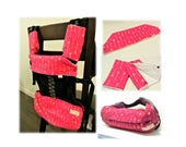 Gift for new mom - Baby carrier storage cover(reversible) ,drool pads , bib for Ergo, Tula, Beco, Boba-Arrows(pink) /arrows(black)