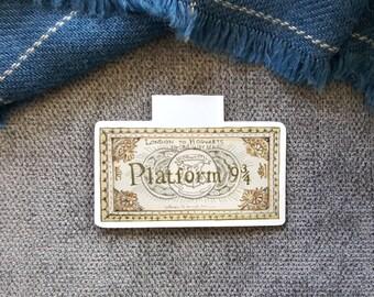 Platform Ticket Magnetic Bookmark Single