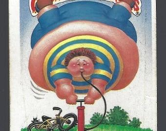 Vintage 1987 Topps Garbage Pail Kids Pumping Aaron Rare