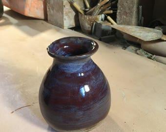 Multi Colored Vase, wheel thrown