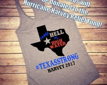 Hurricane Harvey Tank, Hurricane harvey shirt, Hurricane Harvey Tee, Hurricane Harvey, Hurricane Shirt, We are Texas Strong, Harvey 2017