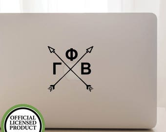 Vinyl Decal, GREEK, SORORITY, Gamma Phi Beta, Crossing Arrows
