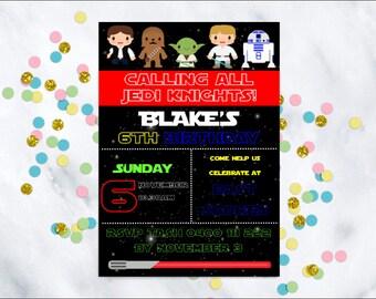 Star Wars birthday invitation, Star Wars invitation,  Birthday invitation, Star Wars party, Printable invitation