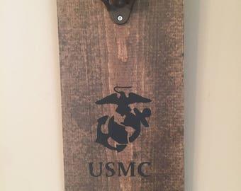 Marine bottle opener