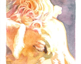 Cow Eye Study--Original Watercolor Painting