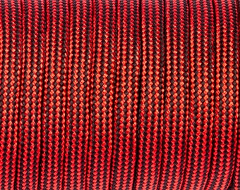 5 meters of Paracord Burgundy lines black