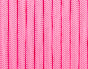 Paracord pink neon 4mm by 5 metres