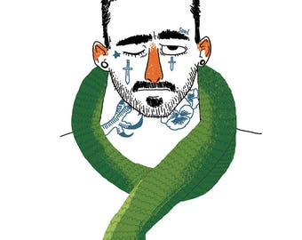 Snake Charmer print