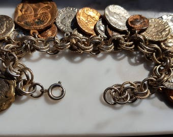 Vintage Coin Dangle Bracelet