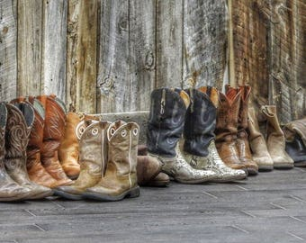 Cowboy Boots, Wild West, Fine Art Photography, Western Decor, Leather Boots, Texas Ranger