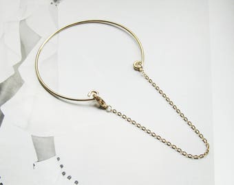 Barely There Chain Cuff, gold cuff bracelet, minimalist bracelet