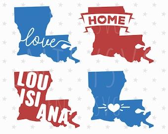 Louisiana silhouette | Etsy